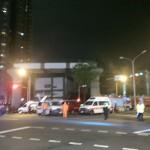 台中市MRT建設現場で4人死亡の大事故(現場写真)