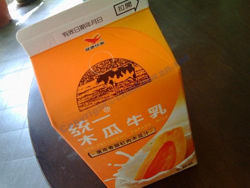 台湾の飲み物‐パパイヤミルク(木瓜牛乳)